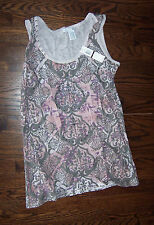 NWT RXB size large L LG pink tank top with rhinestone bling embellishments new!