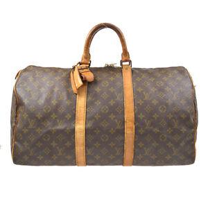 LOUIS VUITTON KEEPALL 50  TRAVEL HAND BAG MONOGRAM M41426 SD 83641