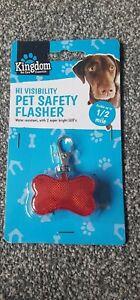 Dog   Safty Collar Light  Flashing Bone Night Pendant Charm plus water bottle
