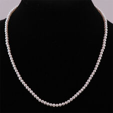 Real Freshwater 3-3.5mm AA Pearl Necklace & Sterling Silver Clasp