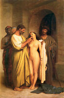 Dream-art Oil painting portraits purchase slaves - nude young girl & men canvas
