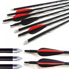 10 Fibra di Vetro Frecce Tiro Con L'arco Acciaio Punta Field & target Archery gamma FRECCE