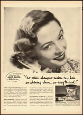 1950's  Vintage ad for Rayve Creme Shampoo/ 50's hair style (040713)