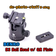 Benro B3 Camera Ball Head & QR Plate Package suit ArcaSwiss