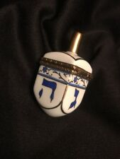 Limoges France Dreidel Jewish Collectible Trinket Box Hand Painted by Rochard