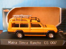 MATRA SIMCA RANCHO 1978 CLUB JAUNE SOLIDO CS007 1/43 EDITION LIMITEE YELLOW GELB