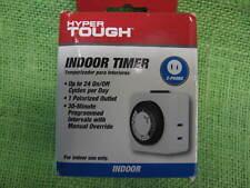 Hyper Tough 24-Hour Mechanical Outlet Timer Daily use, 2 prong 15 amp Intertek