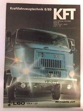 Kraftfahrzeugtechnik KFT 06/1989 IFA L60 L 60 LKW Sammeln Rar Geschenk Alt DDR
