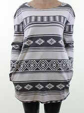 TRULY MADLY DEEPLY @ URBAN OUTFITTERS aztec print sweatshirt tunic top size M 12
