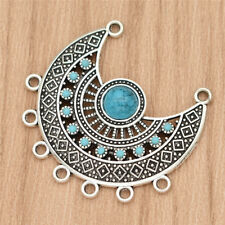 Ethnic Tibetan Silver Sweater Chain Pendant Turquoise Necklace Jewelry DIY Charm