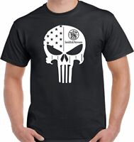 SMITH & WESSON PUNISHER FIREARMS T-SHIRT - UNISEX HIGH QUALITY NEW EDITION TEE
