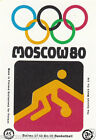 Basket ball basketball SPORT MOSCOU Moscow Olympic GAMES MATCHBOX LABEL 1980