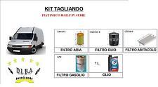 KIT TAGLIANDO FIAT IVECO DAILY III 4 FILTRI + 7L OLIO TOTAL QUARTZ 10W40