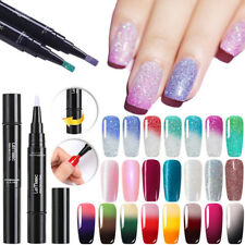 LEMOOC 5ML Temperature Color Changing UV Gel Polish Pen Shimmer Nail Art Varnish