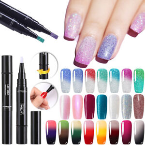 LEMOOC 5ML Temperature Color Changing UV Gel Polish Pen Shimmer Nail Art Varnish