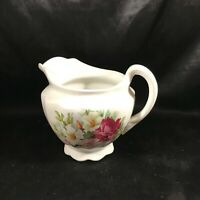Vintage CROWN POTTERIES C.P. Co Porcelain Floral Pitcher