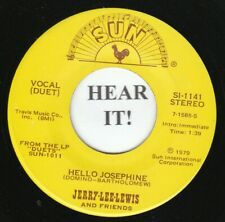 JERRY LEE LEWIS 45 (Sun 1141) Hello Josephine /Cold, Cold Heart   MINT-
