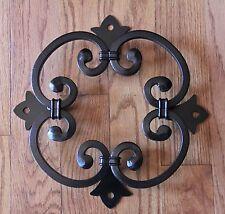 Wood Gate Window, Wrought Iron Rosette for Door, Speak Easy grille, doorway,