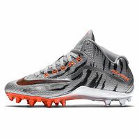 New Nike Alpha Pro 2 3/4 Mid TD LE 2.0 Mens Football Cleats Silver Orange Chrome