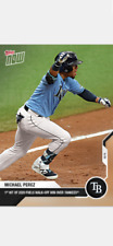 2020 TOPPS NOW CARD TAMPA BAY RAYS MICHAEL PEREZ #78 1st HIT WALK-OFF vs YANKEES