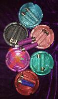 Glitter ashtrays, X1 glass round ashtray, X 2 Clipper Glitter Lighters