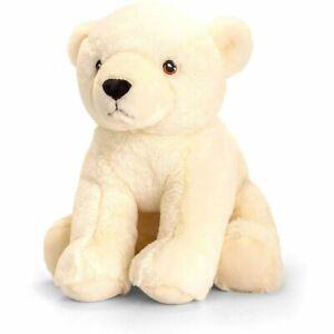Keel Toys KEELECO POLAR BEAR 25cm Soft Toy 100% RECYCLED Eco Plush 100% Huggable