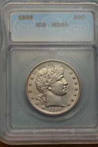 1898 ICG MS60  Barber Half Dollar   Item # 3096