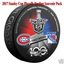 2017 Stanley Cup Playoffs Dueling Puck New York Rangers vs Montreal Canadiens