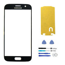 Black Front Glass Lens Adhesive Tools Replacement Compatible Galaxy S7 G930