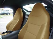PONTIAC SOLSTICE 2006-2009 BEIGE S.LEATHER CUSTOM MADE FIT FRONT SEAT COVER
