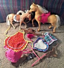 Barbie and friends, unbranded and Branded Horses and Accessories
