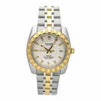 Tudor Classic Date Auto 38mm Steel Yellow Gold Mens Bracelet Watch Date 21013