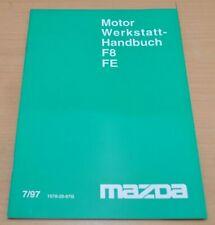 MAZDA Motor F8 FE Instandsetzung Schmierung Reparatur 1997 Werkstatthandbuch