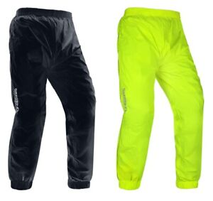 Oxford Rainseal Motorcycle Bike Over Trousers Hi-Vis Black Yellow All Weather