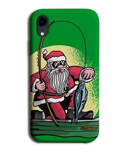 Fishing Santa Claus Phone Case Cover Fisherman Ice Fish Rod Sun Green Rod M281