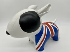 Vintage Bull Terrier Dog Doorstop Spuds McKenzie Bud Light Beer British Flag