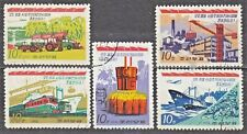 KOREA 1974 used SC#1185/89 set, Socjalist Construction.