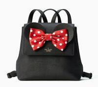 Kate Spade x minnie mouse small neema Bow Backpack ~NWT~ Black
