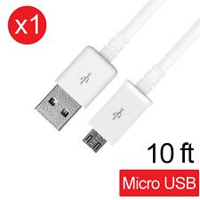 Micro USB Fast Charging Data Sync Cable Cord for Samsung Galaxy S7 Edge LG 10 FT