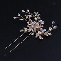 Rhinestone Hair Pin Wedding Party Hair Clip Stick Headwear Headpiece Hairpin