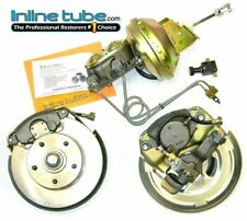 64-65 A Body Power Disc Brake Dual Master Cylinder Conversion Wheel Kit Set New