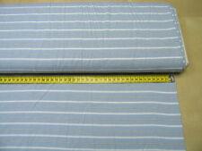 Jersey • Sanetta • hellblau mit Streifen • Baumwoll Jersey • 0,5m