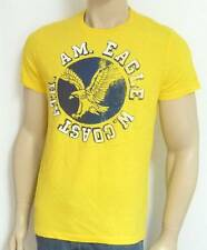American Eagle Outfitters AEO W. Coast Ath. Printed T-Shirt Yellow Shirt New NWT