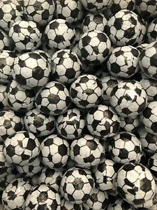 100g Milk Chocolate Footballs Foil Wrapped Black & White