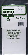 9020 Plain Sheet .020x6x12 (3) Styrene by Evergreen Scale Models EVG9020