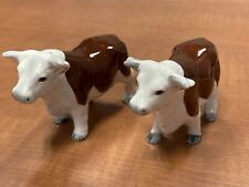 Vintage Hereford Bull Cow Salt and Pepper Shaker Ceramic