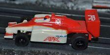 Naranja Y Blanco AFX F1 Coche Escala HO Slot Cars