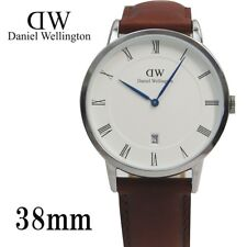 New Daniel Wellington Dapper 38mm St Mawes Silver Brown Leather Watch 1120DW