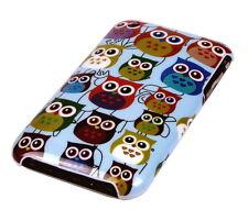 Hülle f Apple iPhone 3 3G 3GS Schutzhülle Tasche Case Cover Owl kleine Eule bunt