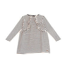 CARRÉMENT BEAU T-Shirt Dress Size 6Y / 114CM Striped Ruffle Trim Long Sleeve